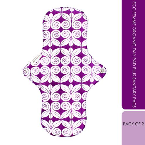 Eco Femme Organic Day Pad Plus Sanitary Pads - Pack Of 2