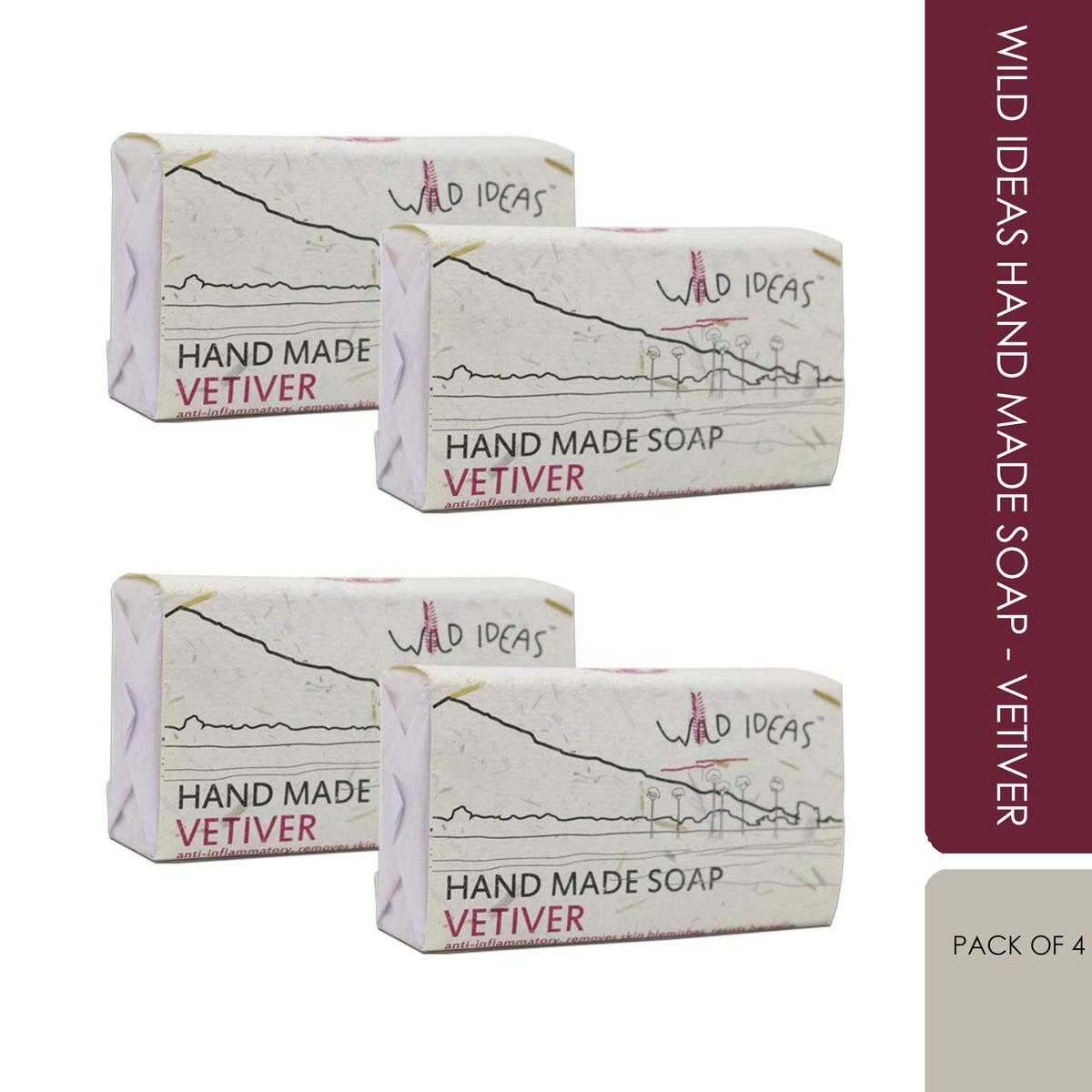 Wild Ideas Hand Made Soap - Vetiver (Pack Of 4)