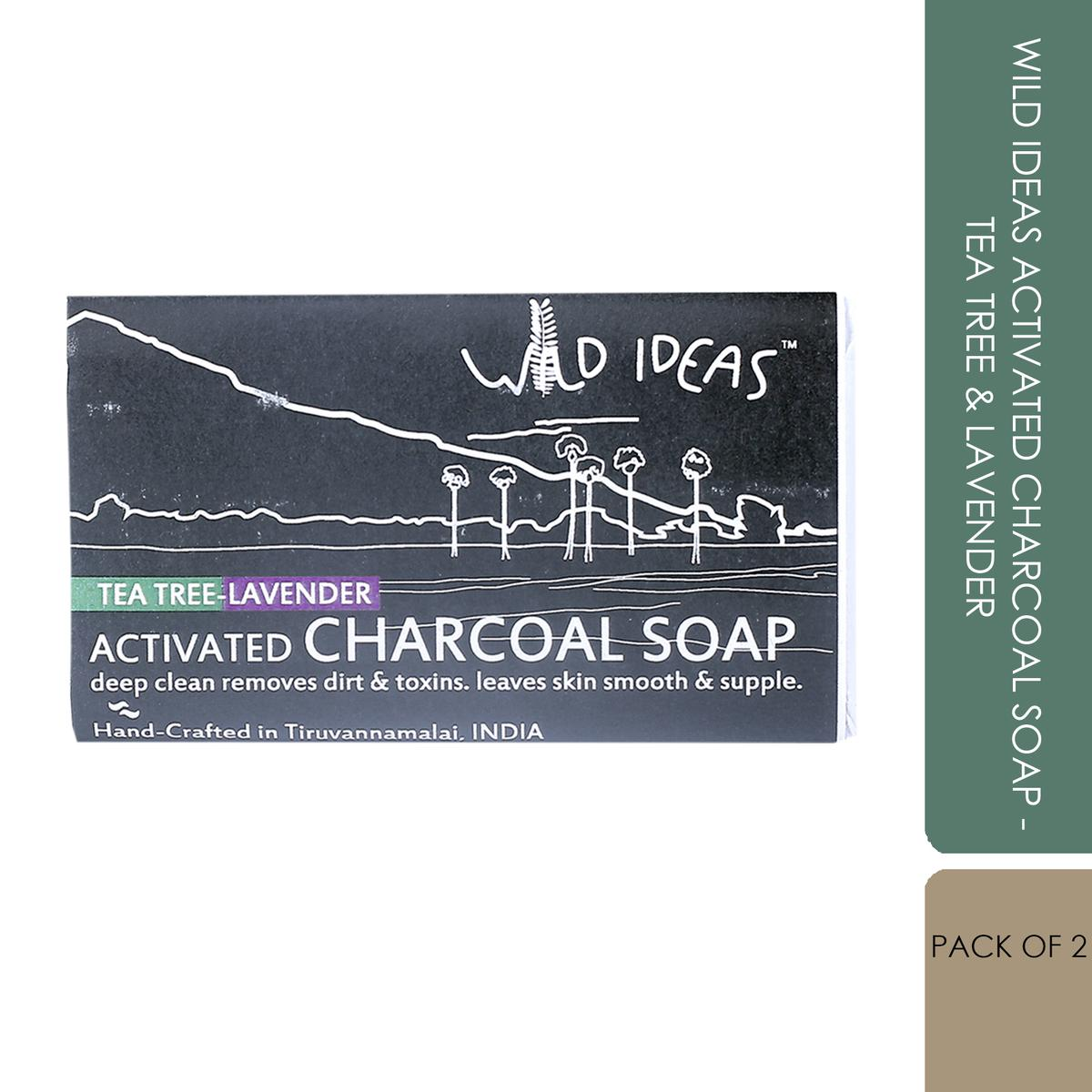 Wild Ideas Activated Charcoal Soap - Tea Tree & Lavender (Pack of 2)
