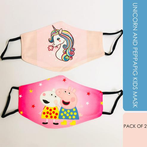 Laviche - Unicorn and Peppa Pig Kids Mask
