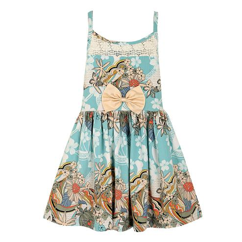 PWN Excellent Blue Colored Casual Wear Floral Printed Lycra Frock