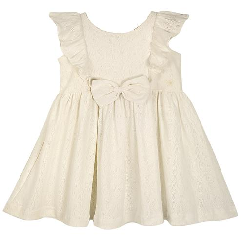 PWN Exclusive White Colored Casual Wear Frill Sleeves Lycra Frock