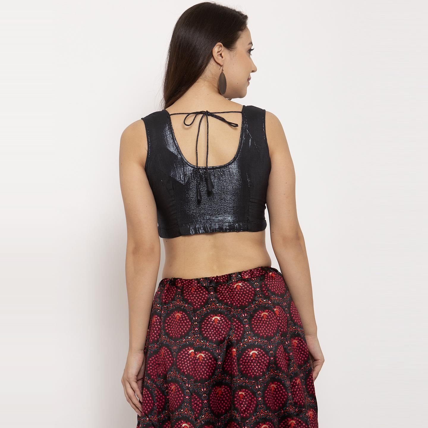 Ayaany - Black Colored Casual Wear Cotton Blouse