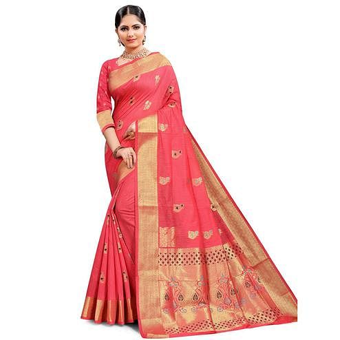 Pache - Pink Colored Festive Wear Art Silk Saree
