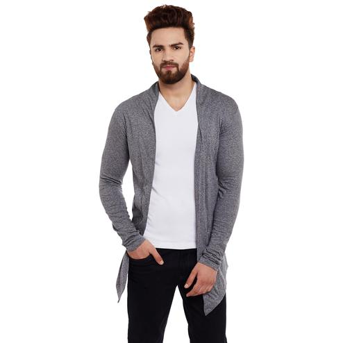 Chill Winston - Charcoal Colored Cotton Shrug For Men