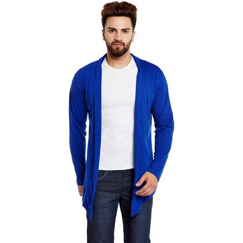 Chill Winston - Royal Blue Colored Cotton Shrug For Men