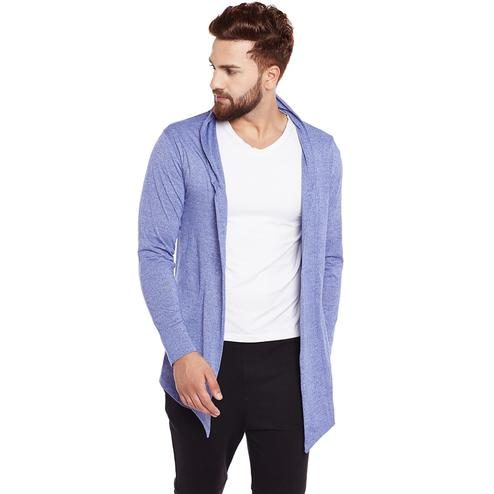 Chill Winston - Royal Blue Colored Grindle Cotton Shrug For Men