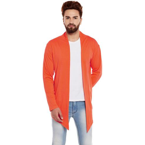 Chill Winston - Orange Colored Cotton Shrug For Men