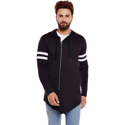 Chill Winston - Black Colored Zipper Cardigan for Men
