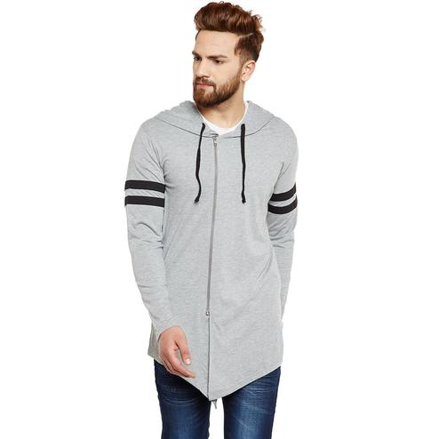 Chill Winston - Grey Colored Zipper Cardigan for Men