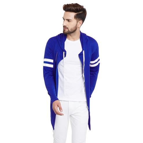 Chill Winston - Royal Blue Colored Zipper Cardigan for Men