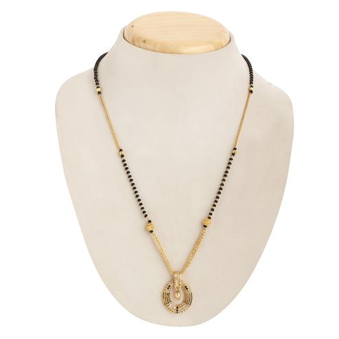 Graceful Gold Plated Beads Alloy Mangalsutra