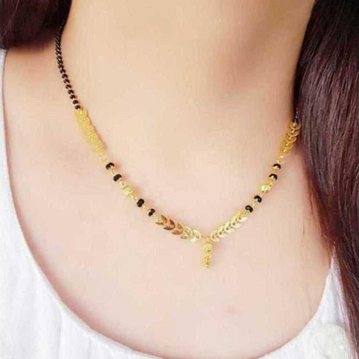 Innovative Gold Plated Beads Alloy Mangalsutra