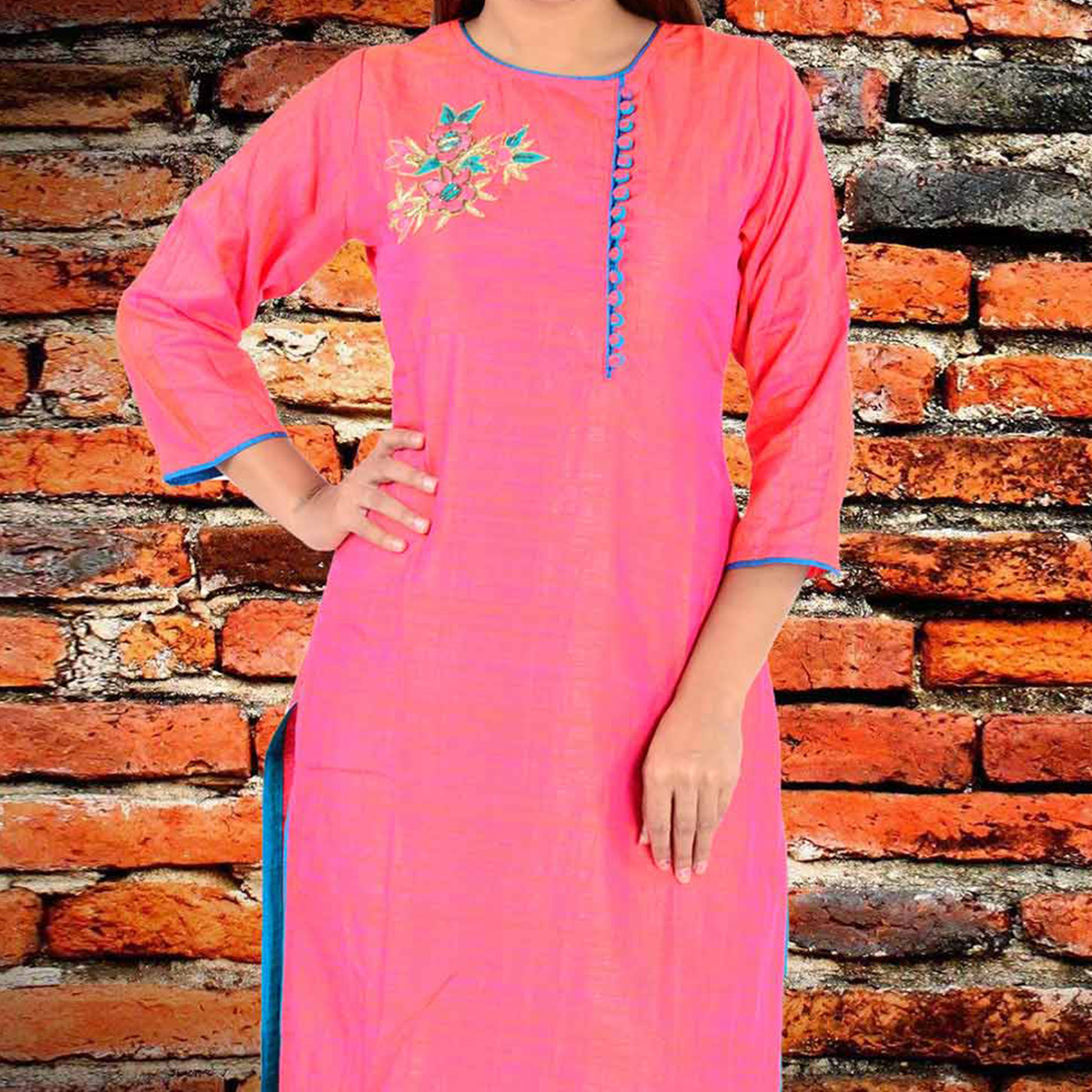 Beautiful Pink Matsani Silk Kurti