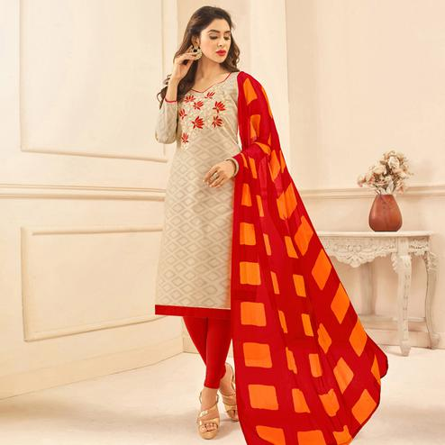 Viva N Diva Grey Colored Cotton Salwar Suit