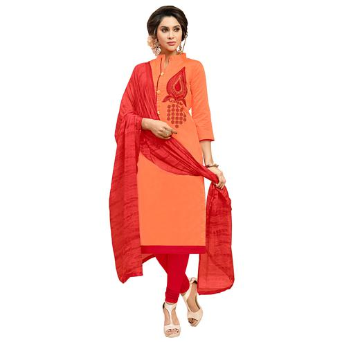 Viva N Diva Orange Colored Modal Salwar Suit