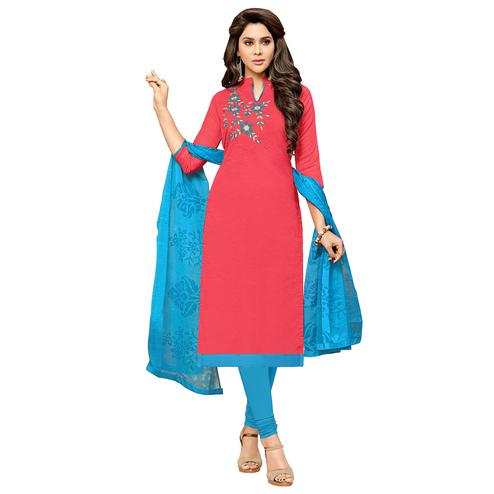Viva N Diva Pink Colored Modal Salwar Suit