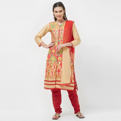 Viva N Diva Cream Colored Cotton Salwar Suit