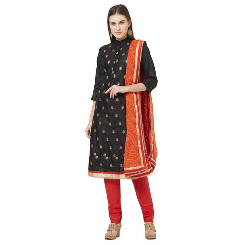 Viva N Diva Black Colored Cotton Salwar Suit