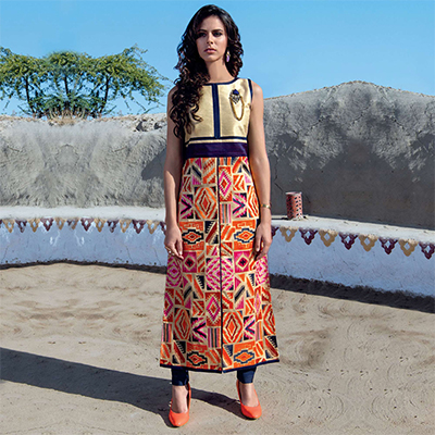 Multicolored Digital Printed Kurti