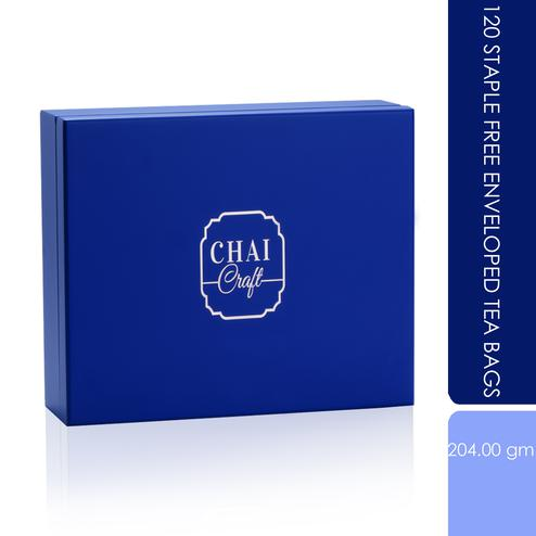 Chai Craft - 120 Staple Free Enveloped Tea Bags in a Wooden Box