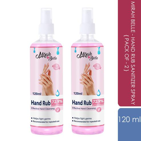 Mirah Belle - Hand Rub Sanitizer Spray (Pack of 2-120 ML)