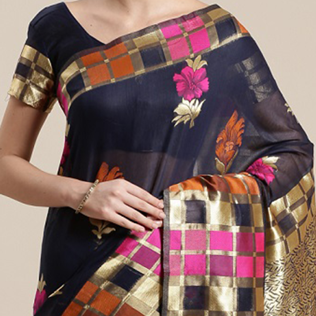 Opulent Blue Colored Festive Wear Woven Floral Cotton Silk Saree With Tassels