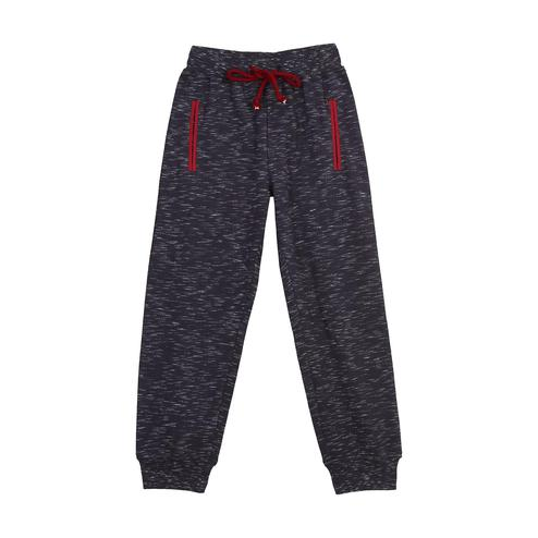 612 League - Navy Blue Colored Printed Knit Cotton Joggers For Boys