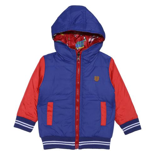 612 League - Royal Colored Hoody Reversible Polyester Jacket For Baby Boys