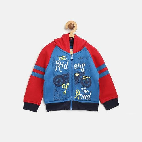 612 League - Royal Colored Riders Of The Road Cotton Sweatshirt For Baby Boys