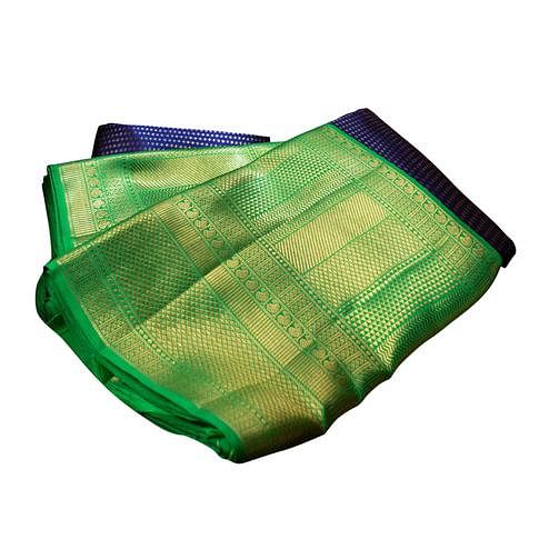 Flaunt Bottle Green Colored Festive Wear Nylon Lichi Silk Saree