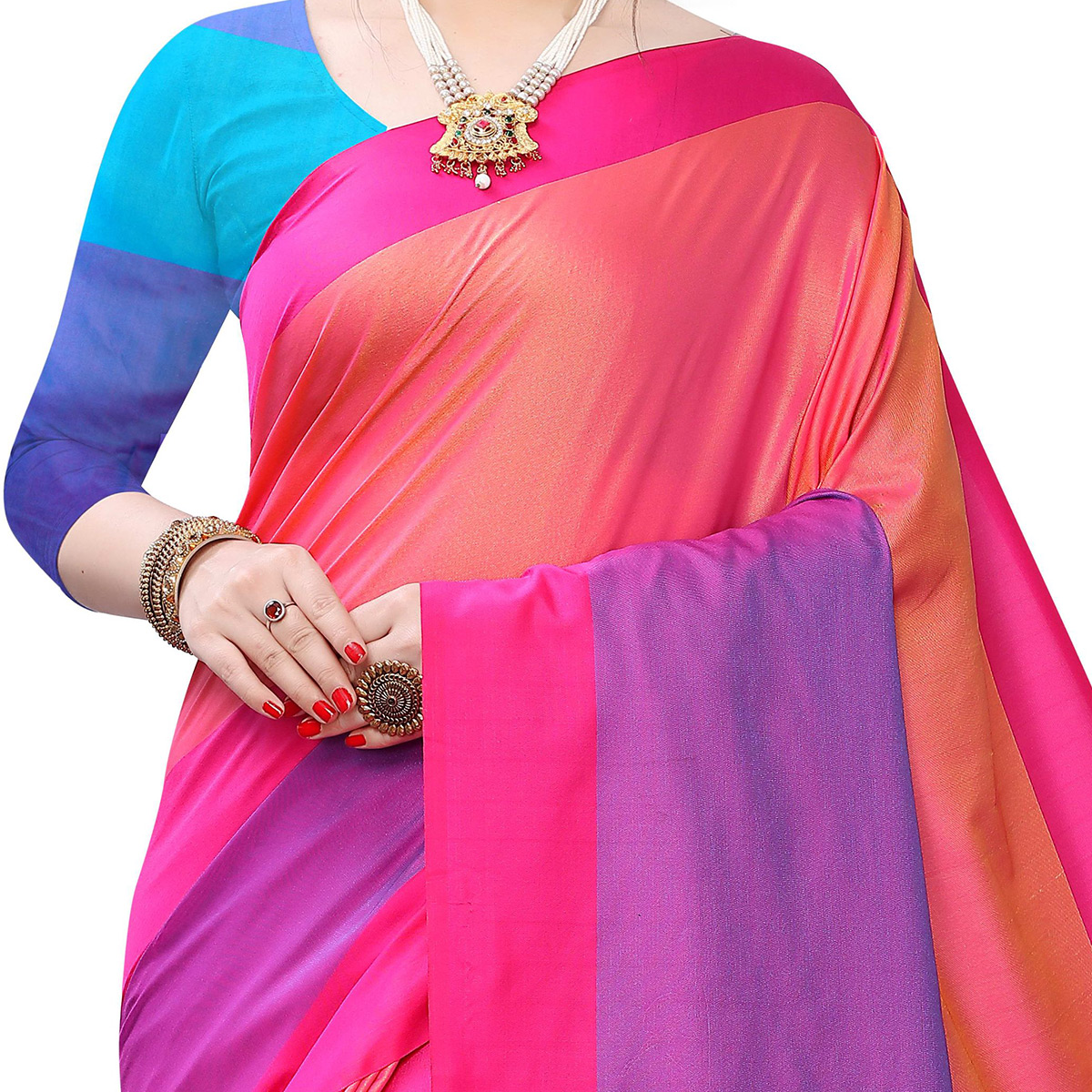 Majesty Pink Colored Festive Wear Woven Sana Silk Saree