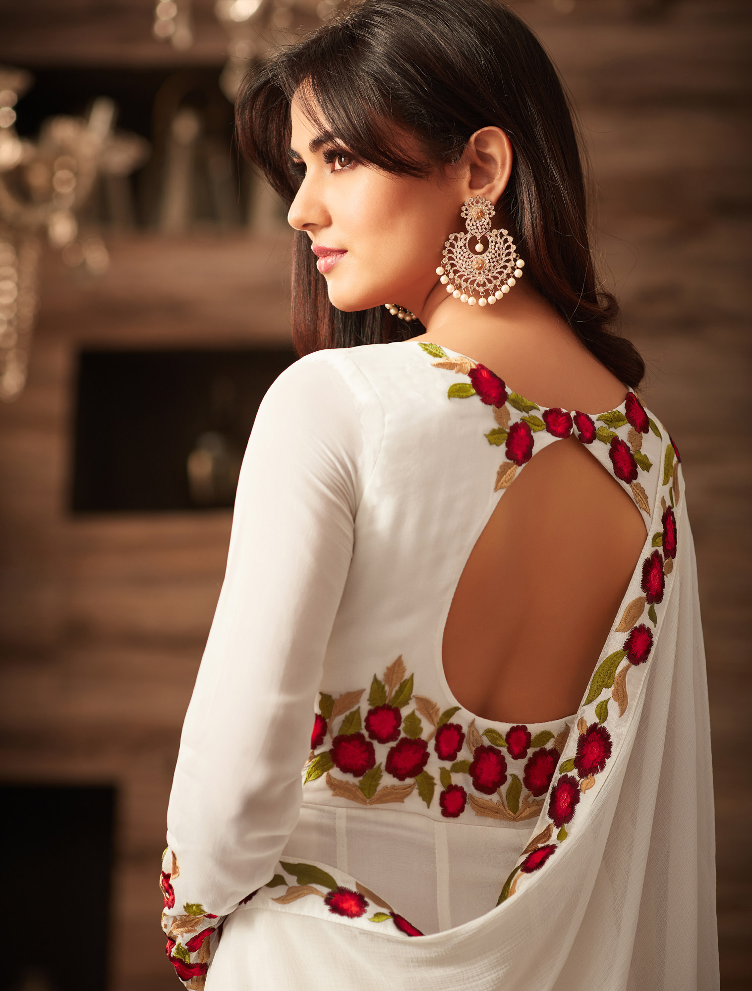 Classy White Designer Embroidered Anarkali Suit
