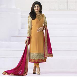 Yellow Wedding Wear Embroidered Suit