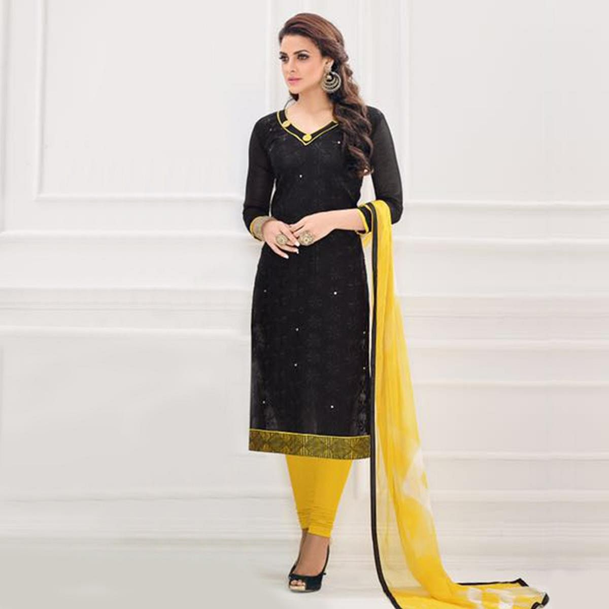 Black Casual Wear Salwar Suit