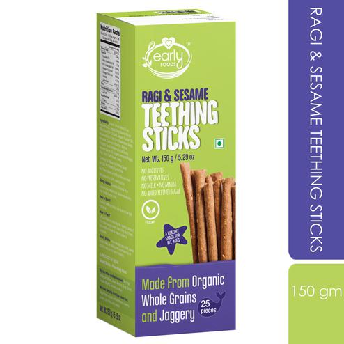Early Foods - Ragi & Sesame Jaggery Teething Sticks 150g
