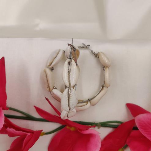 Zaffre Collections - Hoop Shell Earrings for Women and Girls