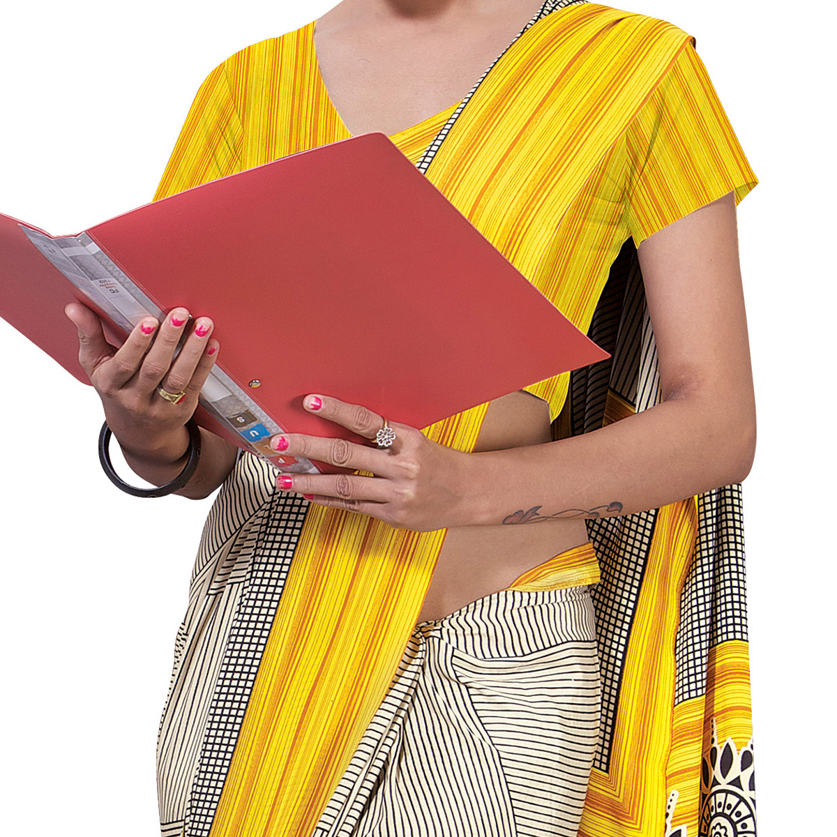 Radiant Cream-Yellow Colored Casual Wear Printed Crepe Saree