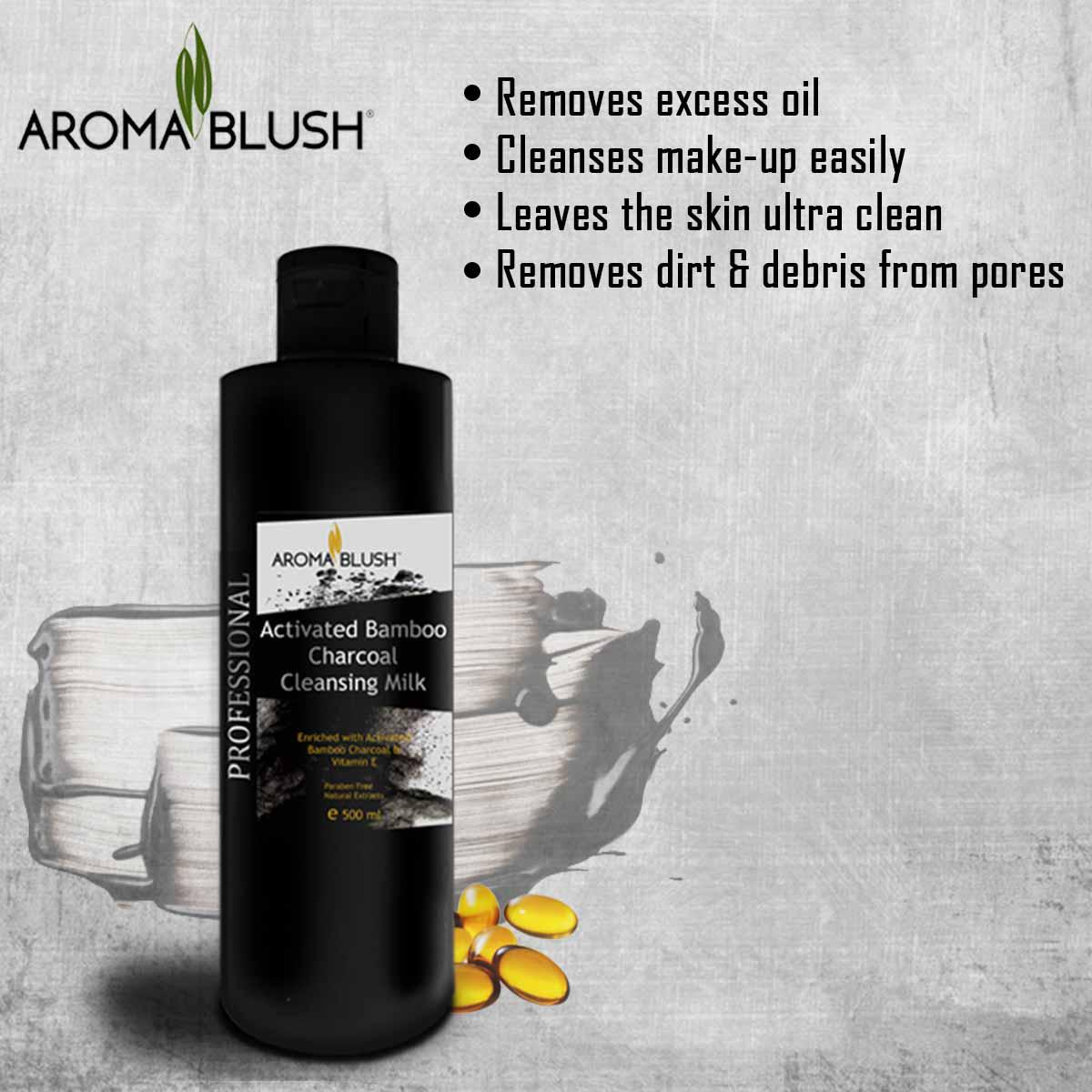 Aroma Blush - Activated Bamboo Charcoal Cleansing Milk - 500gm