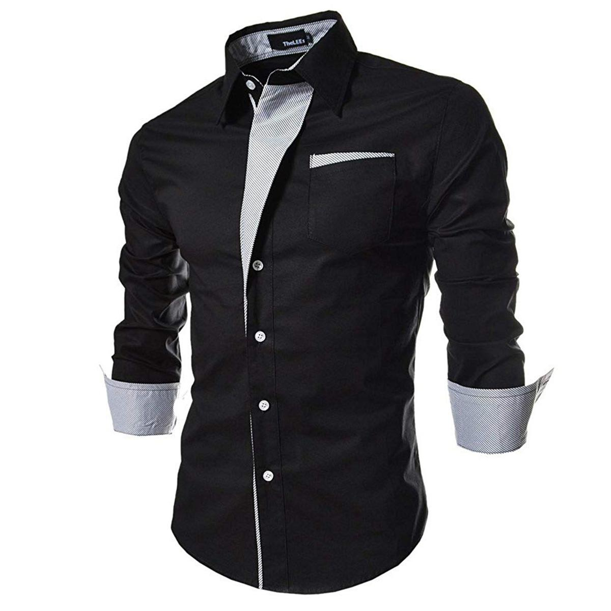 Blooming Black Colored Casual Wear Pure Cotton Shirt