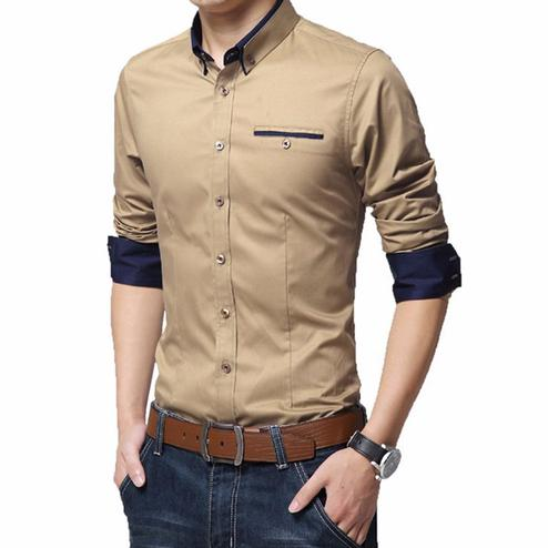 Majesty Cream Colored Casual Wear Pure Cotton Shirt