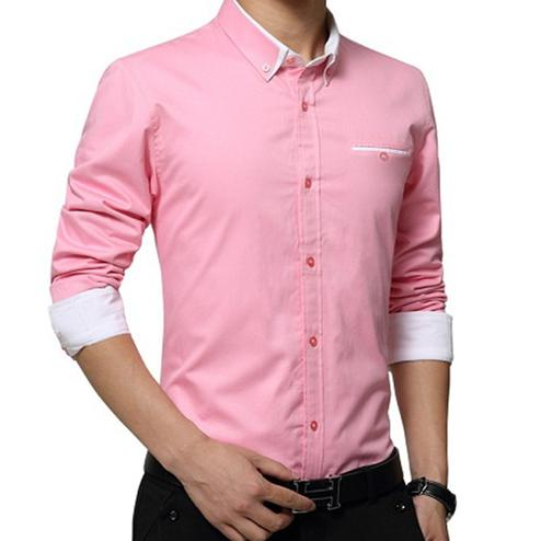Pleasance Pink Colored Casual Wear Pure Cotton Shirt