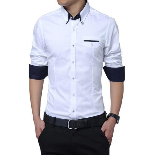 Staring White Colored Casual Wear Pure Cotton Shirt