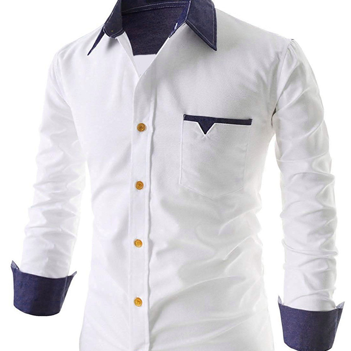 Desirable White Colored Casual Wear Pure Cotton Shirt