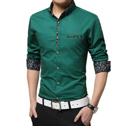 Mesmerising Green Colored Casual Wear Pure Cotton Shirt