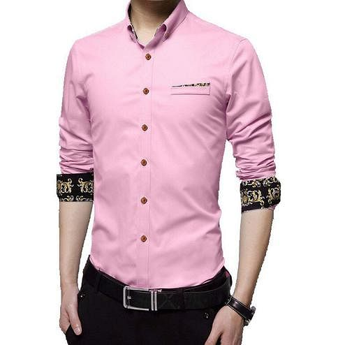 Staring Pink Colored Casual Wear Pure Cotton Shirt