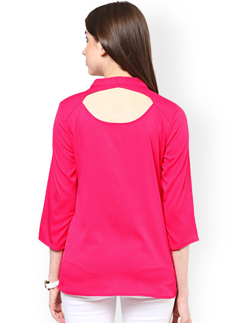 Lovely Pink Casual Wear Pure Georgette Top