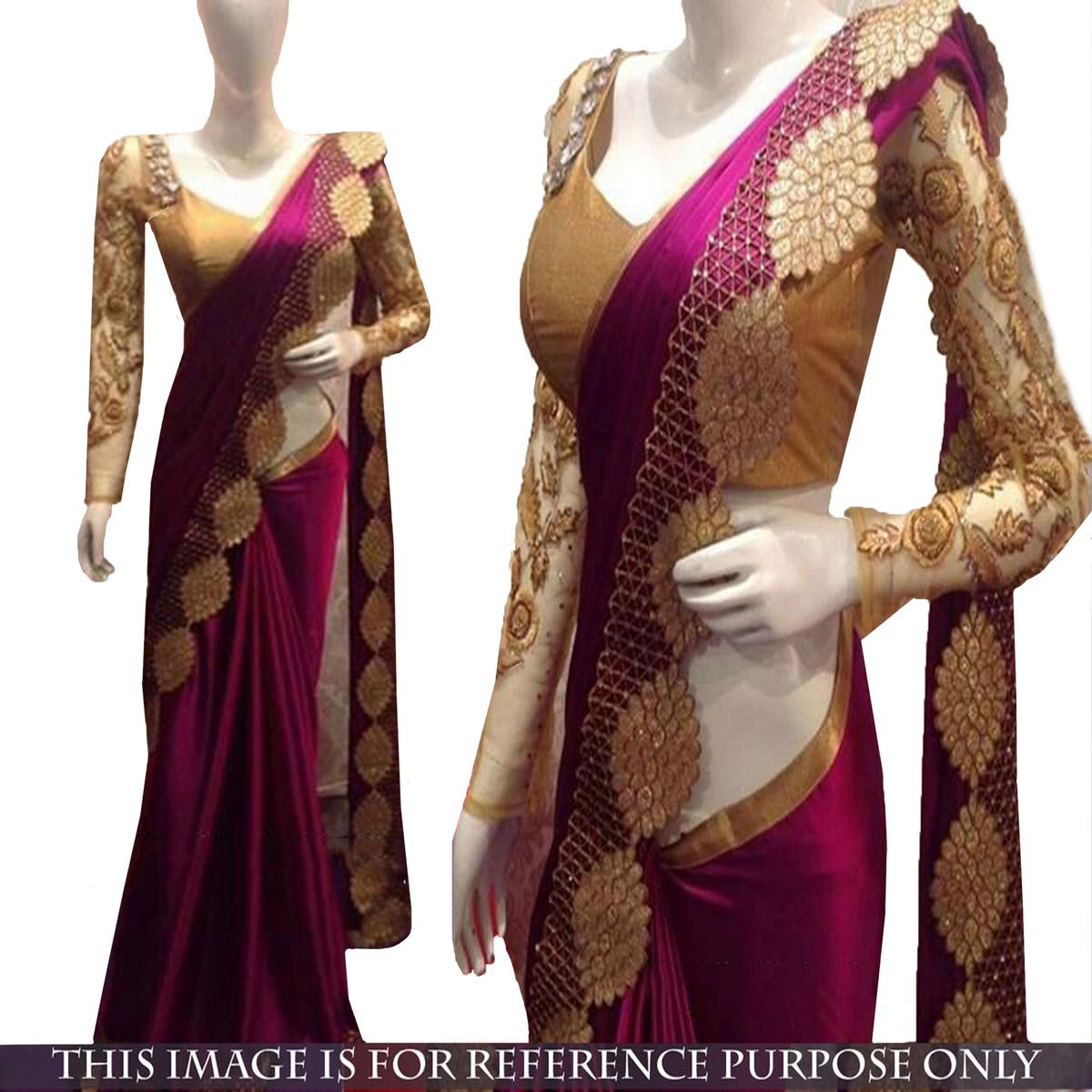 Beautiful Magenta Designer Saree
