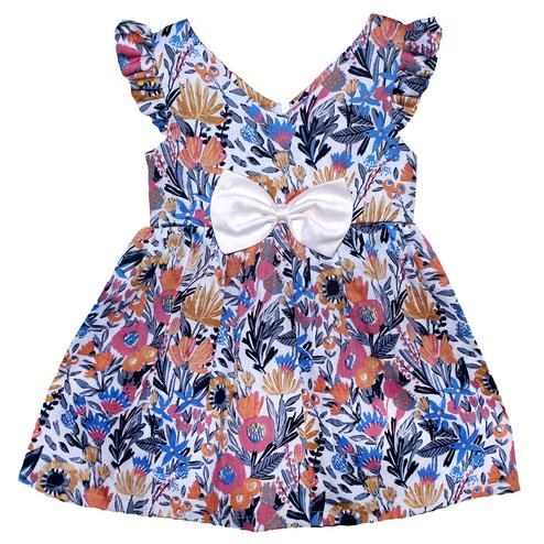 PWN Ravishing Multi Colored Casual Wear Floral Printed Cotton Satin Frock