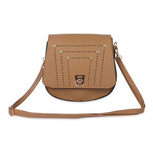 NFI essentials - Sling Bag with Studs (Brown)